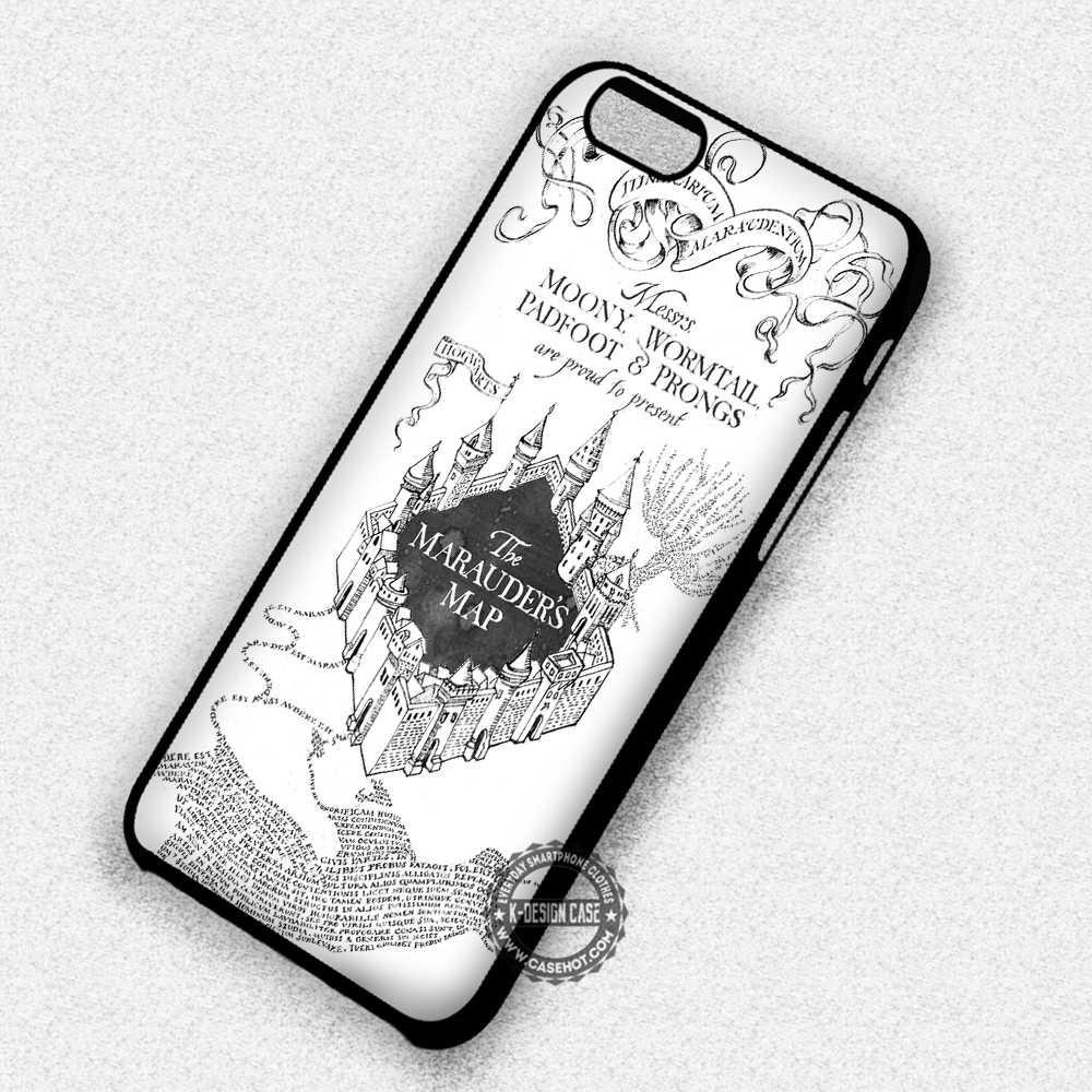 Black and White Map Harry Potter - iPhone 7 6s 5c 4s SE Cases & Covers