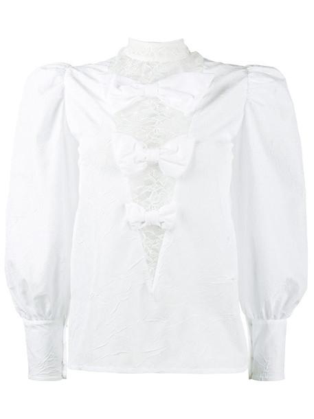 Alessandra Rich blouse women lace white top
