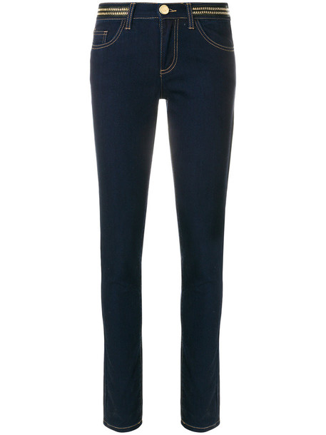 Cavalli Class jeans skinny jeans studded women spandex cotton blue