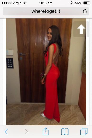formal red dress sexy dress backless dress prom dress