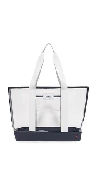 clear navy bag
