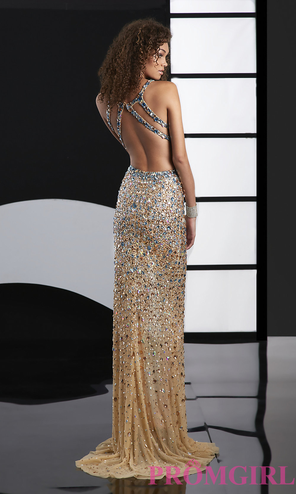Jasz Sexy Beaded Evening Gown