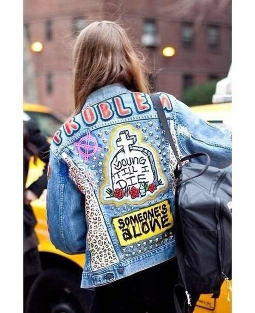 Jacket Shirt Denim Swag Hipster Moto Vintage Retro