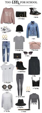 b a r t a b a c,blogger,sweater,bag,shoes,jacket,jewels,t-shirt,jeans,sunglasses,underwear,top,shirt,hat,belt