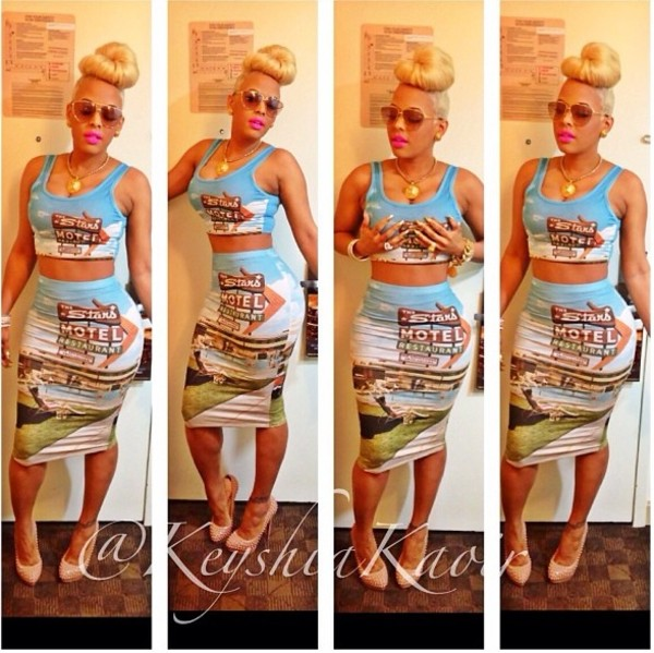 skirt keyshia kaoir shirt