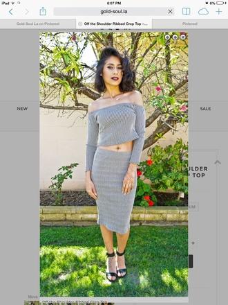 skirt midi skirt striped skirt