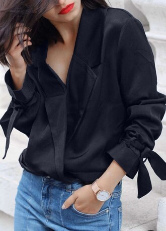 jacket blazer na-kd black fall outfits long sleeves fancy elegant