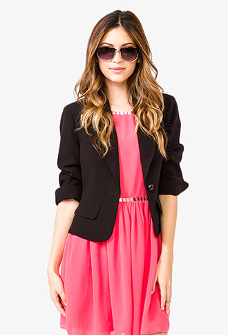 Single-Button Blazer | FOREVER21 - 2018281193