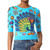 Moschino Short Sleeve Sweater - Fantasy Print Light Blue