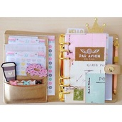 home accessory,organizer,gold,girly,notebook,back to school,school supplies