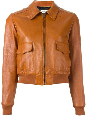 jacket bomber jacket cropped brown