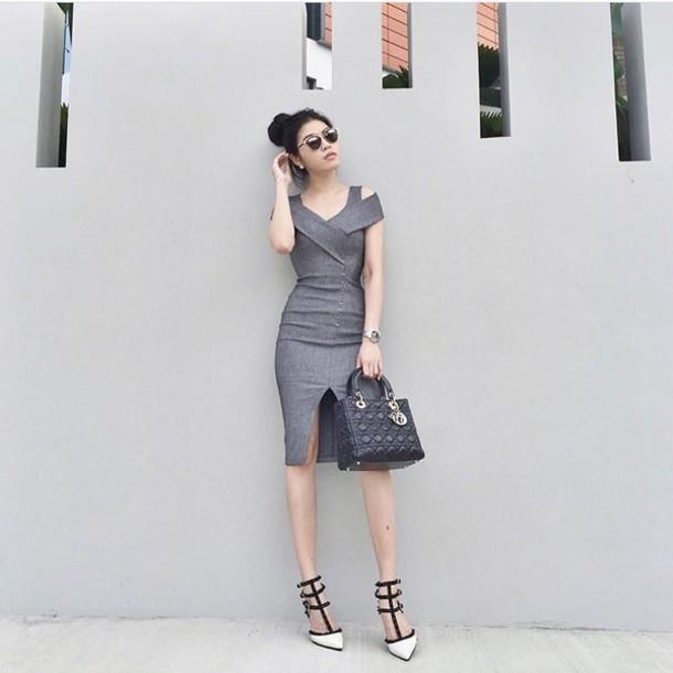 Dress Korean Fashion Korean Style Japan Japanese Grey