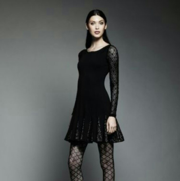 dress catherine maladrino black lace dress lace dress long sleeve dress black long sleeve dress