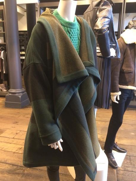 coat burberry brit green