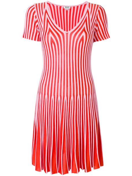 Kenzo dress flare dress flare women cotton red