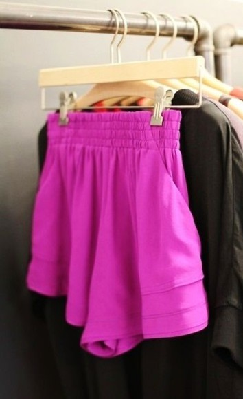 pink highwaisted shorts shorts purple