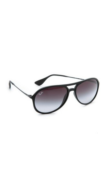 Ray-Ban Youngster Rubber Aviator Sunglasses - Black