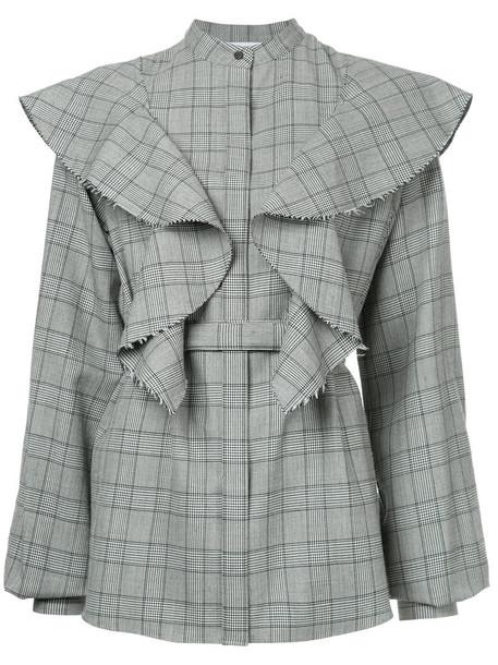 Irene shirt women wool grey top