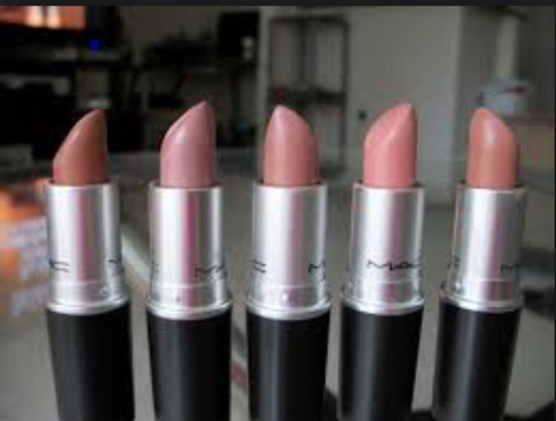 make-up colorful beige nude make-up colorful lipstick