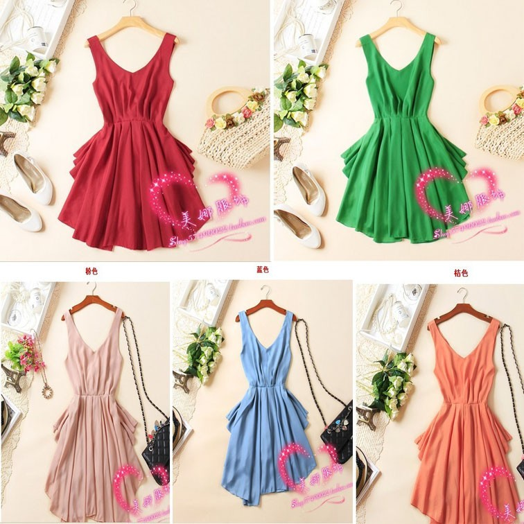 Sexy Women Chiffon Backless Bow Pleated Clubwear Party Cocktail Mini Dress | eBay