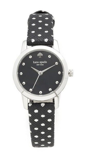 watch silver white black jewels