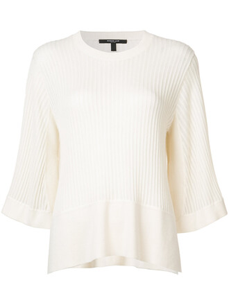 blouse loose women fit white silk top