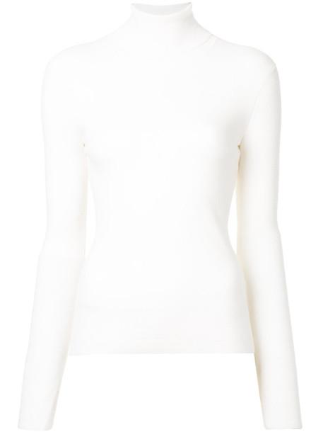 sweater turtleneck turtleneck sweater women white wool