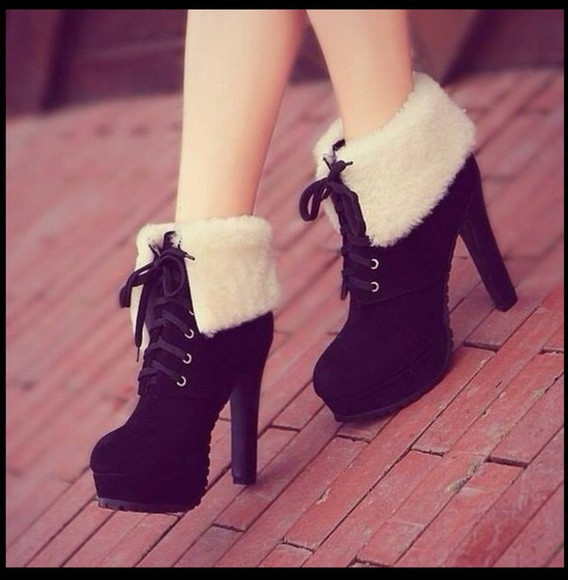 white feathers shoes black platform shoes heels high heels cute shoes fashion laceshoes lace-up shoes lace dress