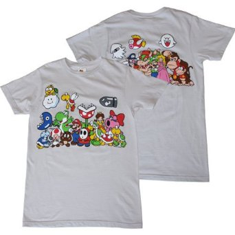 Amazon.com: Nintendo Super Mario Character Line Up Men's Slim Fit T-Shirt: Clothing