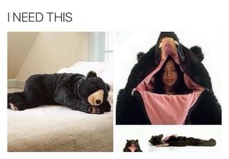 pajamas bear suit bear cute girlfriend gift ideas present giant teddy bear