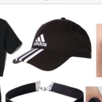 hat black sportswear white