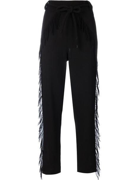 Veronique Leroy women black wool pants