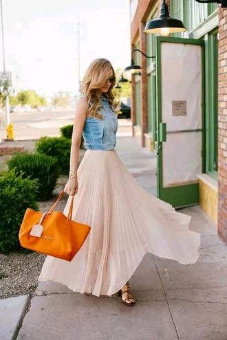 skirt pink skirt long skirt