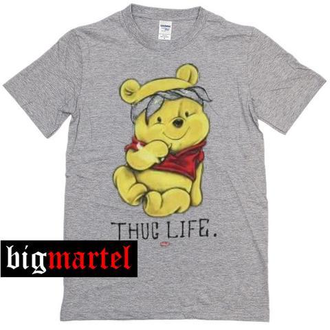 fe536587 Winnie The Pooh Thug Life Womens T-shirt Men T-Shirt
