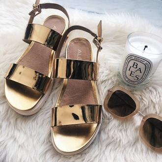 shoes aldo gold summer sandals flat sandals gold sandals gold flat sandals candle home accessory sunglasses