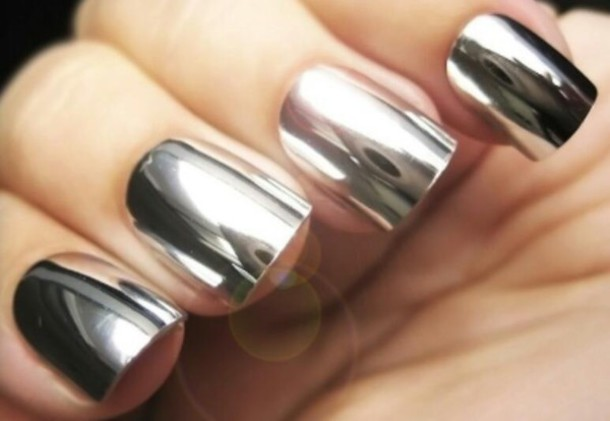 nail polish silver polish stickers
