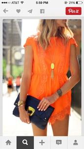jumpsuit,tribal pattern,romper,style,fashion,orange dress