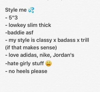 t-shirt style me baddies trill nike adidas jordans shoes shirt dress jeans ripped jeans classy adidas shoes nike shoes air jordan asos old school