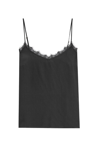 camisole lace silk black underwear