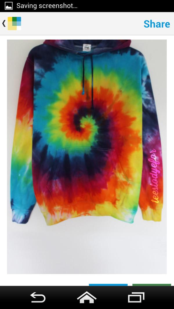 tie dye hoodie sweater