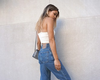 croptopia blogger jeans high waisted jeans vintage levi's mom jeans