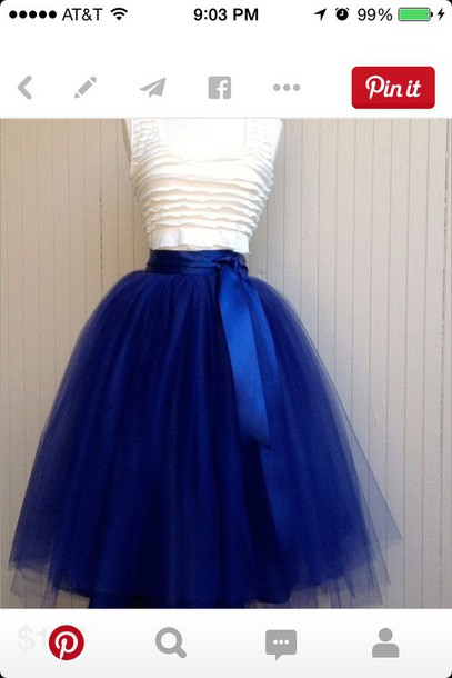 skirt tutu blue skirt