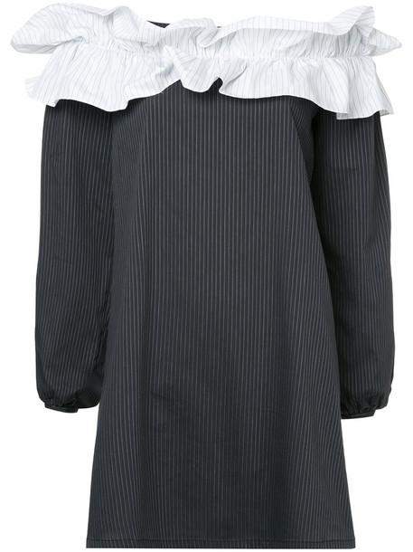 KAGE dress striped dress women spandex cotton black