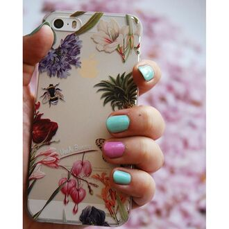 phone cover yeah bunny clear floral holygarden nails iphone cover iphone iphone case