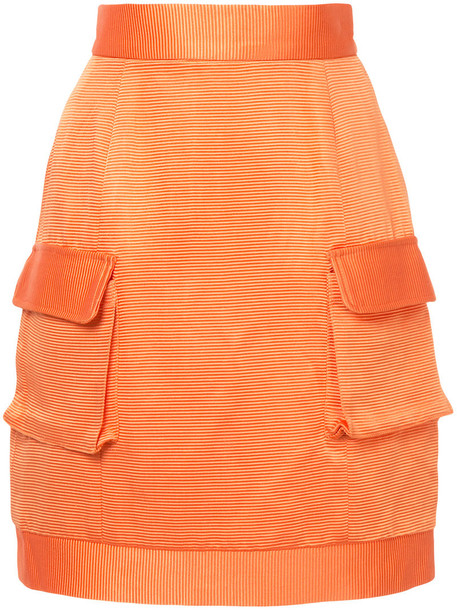 Bambah skirt women silk yellow orange