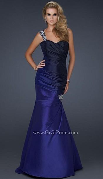 dress prom dress ombre dress navy dress
