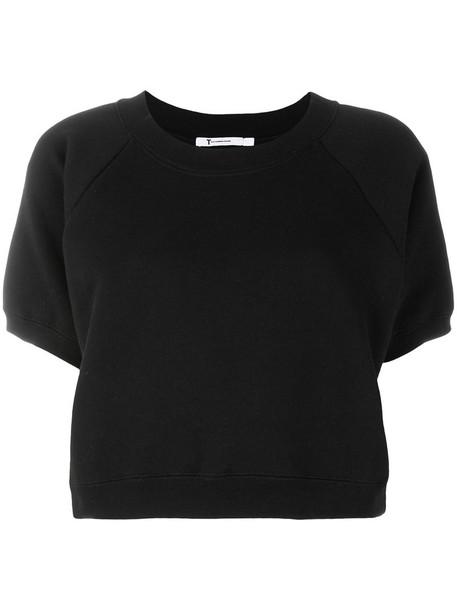 Alexander Wang top cropped women cotton black