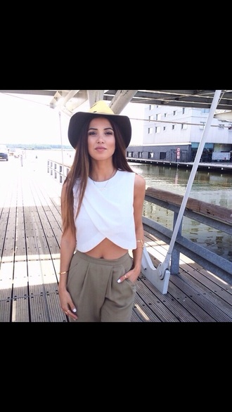 blouse white top white crop tops