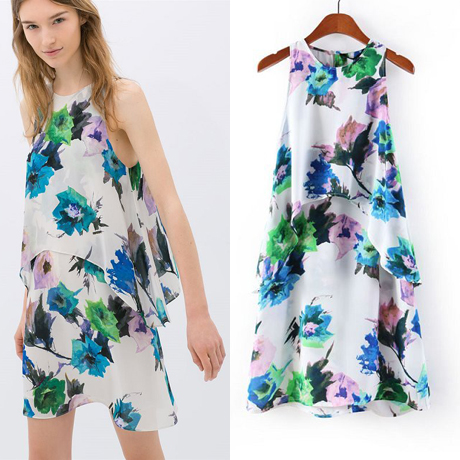 Aliexpress.com : Buy Women's multicolor print casual dress sleeveless vest multilevel from Reliable dress bikini suppliers on LOOK BOOK STORE WHOLESALE.