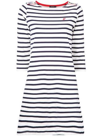 dress striped dress women white cotton